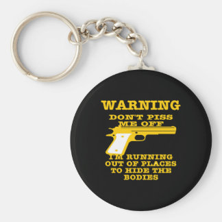 Black To Hide The Bodies Basic Round Button Key Ring