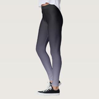Black to Mulberry Purple Gradient Fade Leggings