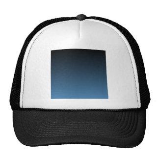 Black to Steel Blue Horizontal Gradient Cap