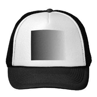 Black to White Vertical Gradient Trucker Hats