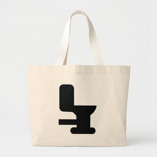 black toilet icon jumbo tote bag