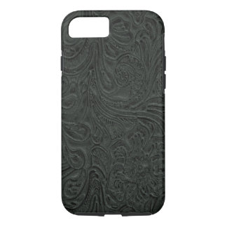 Black Tooled Leather Look Cowboy Country iPhone 8/7 Case