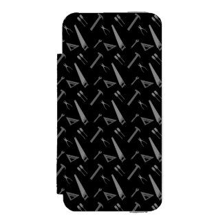 Black tools pattern incipio watson™ iPhone 5 wallet case