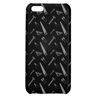 Black tools pattern iPhone 5C covers