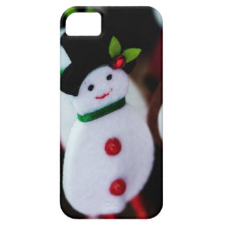 black top hat snowman with Cane, christmas card Barely There iPhone 5 Case