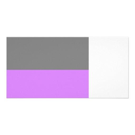 black top purple bottom 50 lightness.jpg photo greeting card