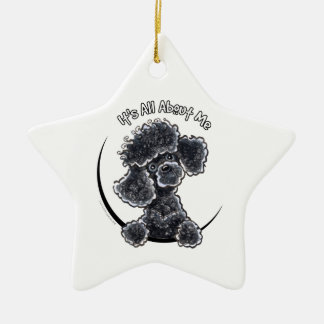 Black Toy Poodle IAAM Christmas Ornament