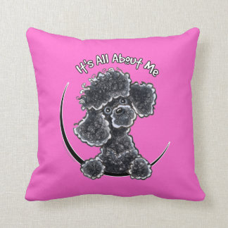 Black Toy Poodle IAAM Cushion