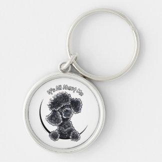Black Toy Poodle IAAM Key Ring