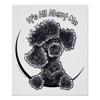 Black Toy Poodle IAAM Poster