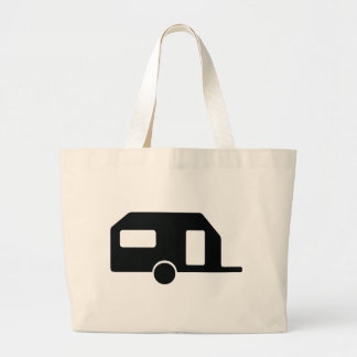 black trailer icon large tote bag