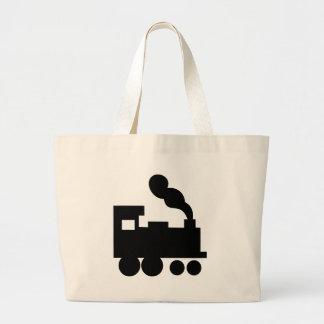 black train railway icon bag