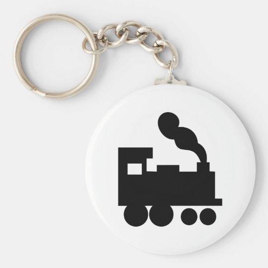 black train railway icon basic round button key ring