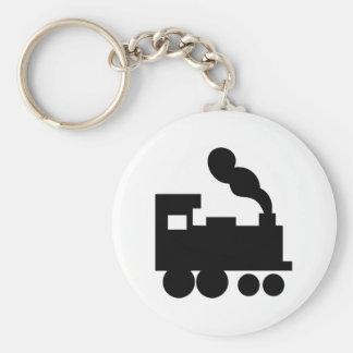 black train railway icon keychains