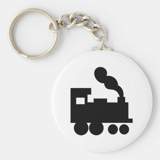 black train railway icon key ring