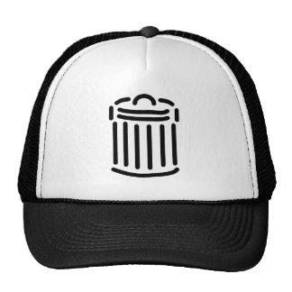 Black Trash Can Symbol Hat