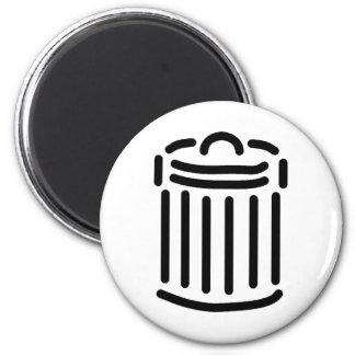 Black Trash Can Symbol Refrigerator Magnet