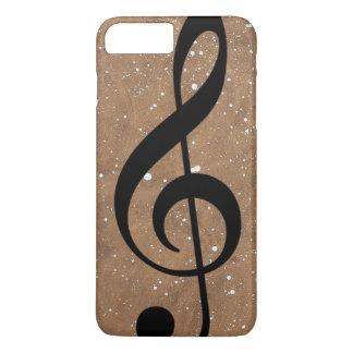 black-treble-clef music-note iPhone 7 plus case