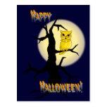 BLACK TREE, OWL & NIGHT MOON by SHARON SHARPE Post Cards
