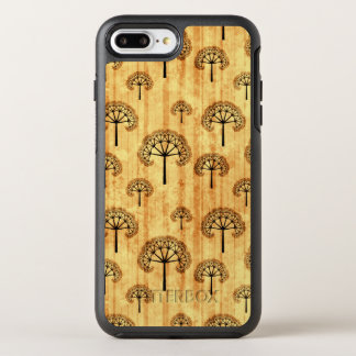 Black Trees Pattern on Vintage Paper OtterBox Symmetry iPhone 8 Plus/7 Plus Case