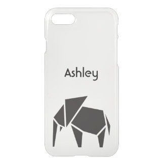 Black trendy elephant symbol design iPhone 7 case