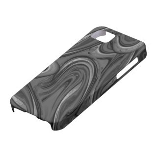 Black trendy marbled pattern iPhone 5 cover
