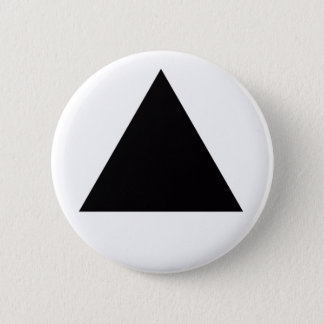 black triangle 6 cm round badge