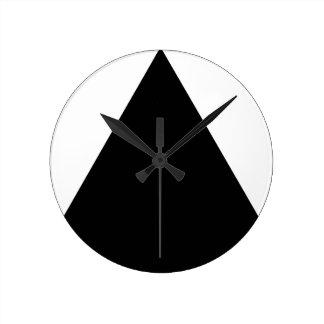 Black Triangle Geometric Round Clock