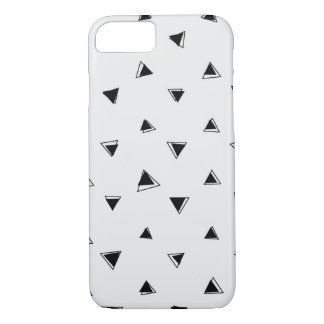 Black Triangle Pattern iPhone 8/7 Case