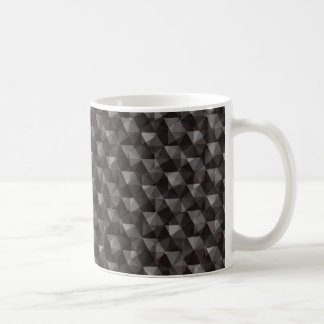Black triangle polygonal pattern background coffee mug