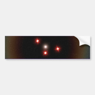 Black  Triangle UFO Bumper Sticker