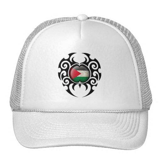 Black Tribal Cracked Palestinian Flag Trucker Hat