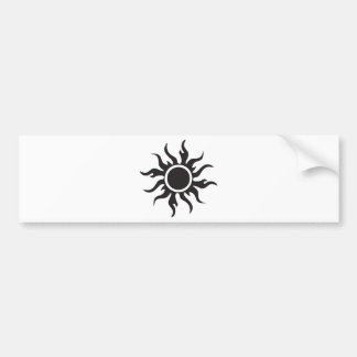 Black Tribal Sun Bumper Stickers
