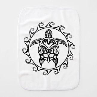 Black Tribal Turtle Burp Cloth