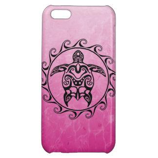Black Tribal Turtle iPhone 5C Case
