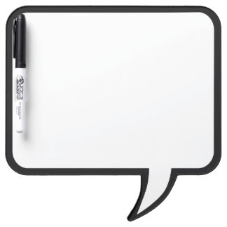 Black Trim Speech Bubble Wall Decor Customize This Dry Erase Board