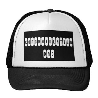 Black Trucker Hat Congratulation Dad
