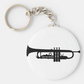 black trumpet icon key ring