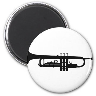 black trumpet icon magnet