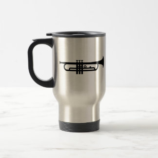 Black Trumpet Travel Mug