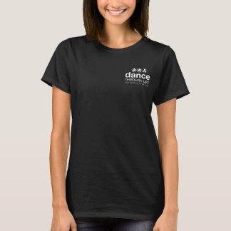 Black Tshirt- color circle feet T-Shirt