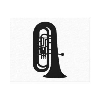 Black Tuba Canvas Prints