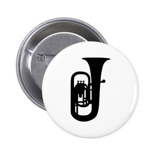 Black Tuba instrument Pin
