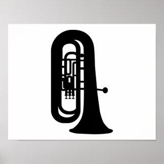Black Tuba Print