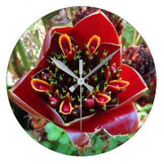 Black Tulip Torch Ginger Large Clock