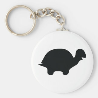 black turtle icon key ring