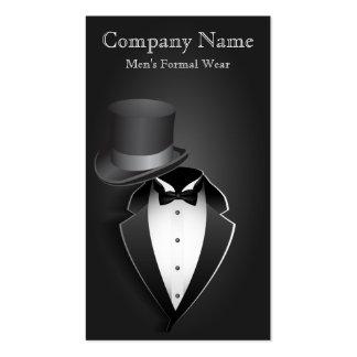 Black Tux Men s Formal Wear Business Card Business Card Templates
