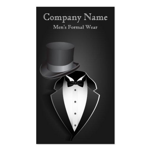 Black Tux Men's Formal Wear Business Card Business Card Templates