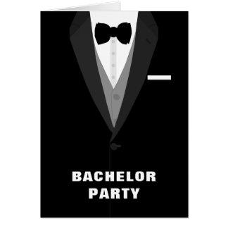 Black Tuxedo Bachelor Party Invitation