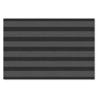 Black Tuxedo Charcoal Grey Fat Stripe Formal Tissue Paper